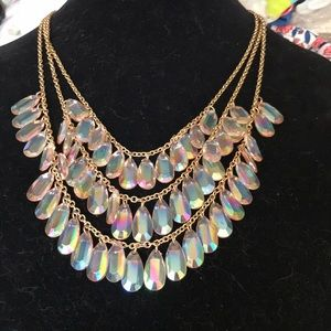 Gold and crystal necklace by Stephan & co